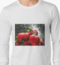 Strawberry Splatter Long Sleeve T-Shirt