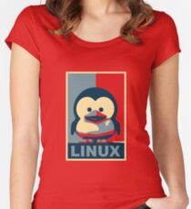 Linux Baby Tux Women's Fitted Scoop T-Shirt