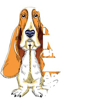 Don't Mess With Me My Mom Is Crazy Basset Hound Lady T-Shirt by Leevinstee