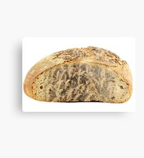 bread and wheat on white Metal Print