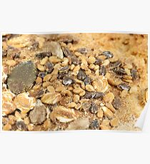 bread crust with seeds close up Poster