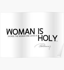 woman is holy - alexandre dumas Poster