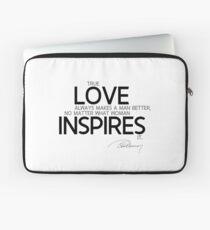 love inspires - alexandre dumas Laptop Sleeve