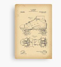 1908 Rollschuh-Patenthistorie Erfindung Leinwanddruck