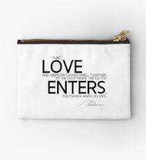 love enters - alexandre dumas Zipper Pouch