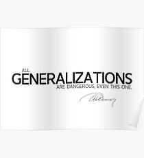 generalizations - alexandre dumas Poster