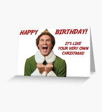 Alles Gute zum Geburtstag Elf Grußkarte