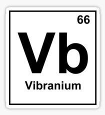 Vibranium illustration Sticker
