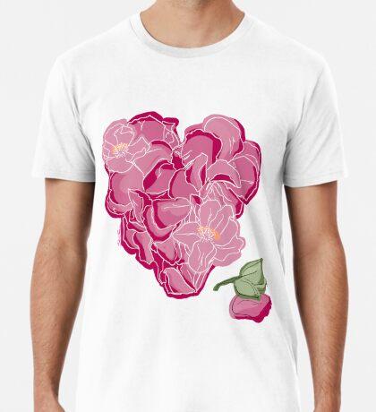 Blumenherz Männer Premium T-Shirts