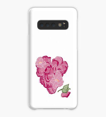 Blumenherz Hülle & Skin für Samsung Galaxy
