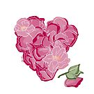 Heart of flowers by Barbara Baumann Illustration