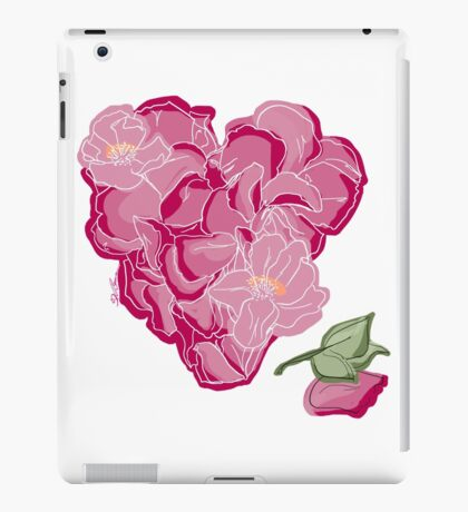 Blumenherz iPad-Hülle & Skin