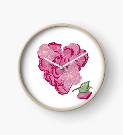 Blumenherz Uhr