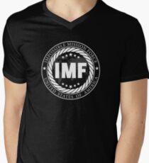 Camiseta de cuello en V Ninguna misión es imposible (negro)
