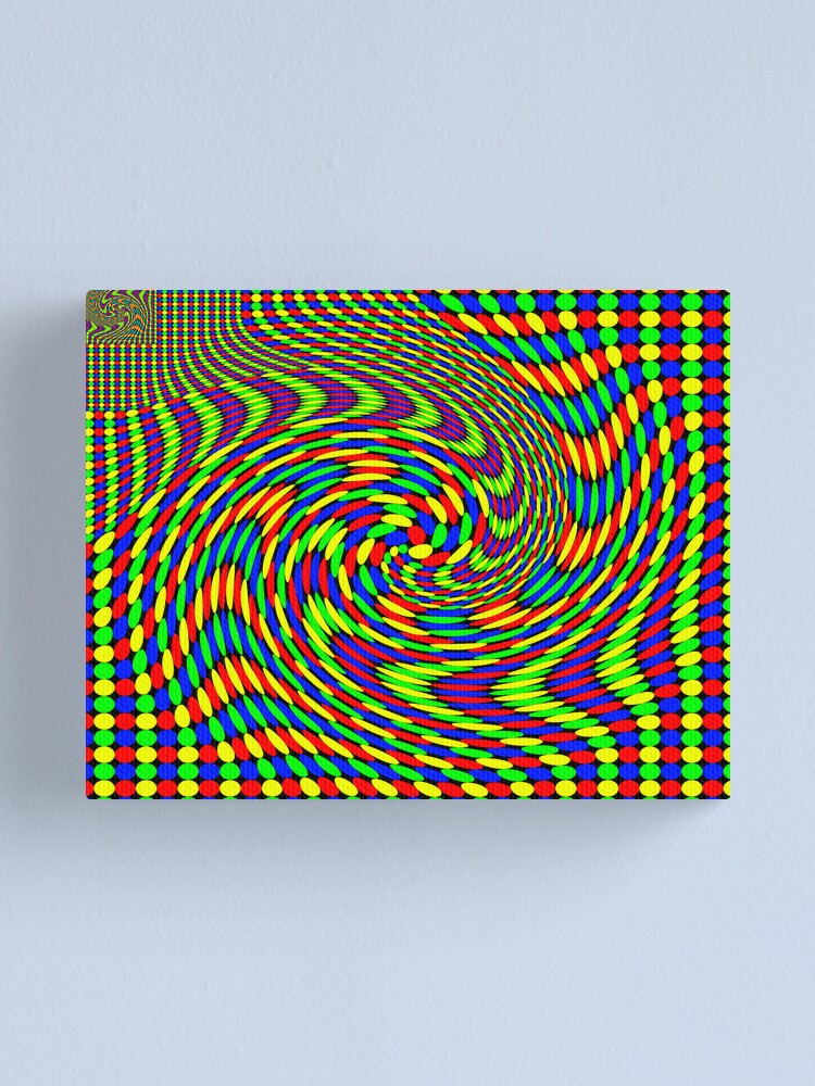 Alternate view of Twisted Gestalt Flag of Fractality Canvas Print