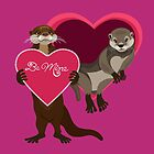 Love Otters - Be Mine by PepomintNarwhal