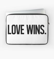 LOVE WINS. Laptop Sleeve