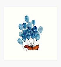 Dachshund and balloons Art Print