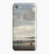 Salomon Jacobsz van Ruysdael - View of the River Lek and Vianen iPhone Case/Skin