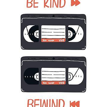 Sei nett, spule zurück (VHS Illustration) von sundrystudio