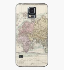 Vintage Map of the World (1875) Case/Skin for Samsung Galaxy