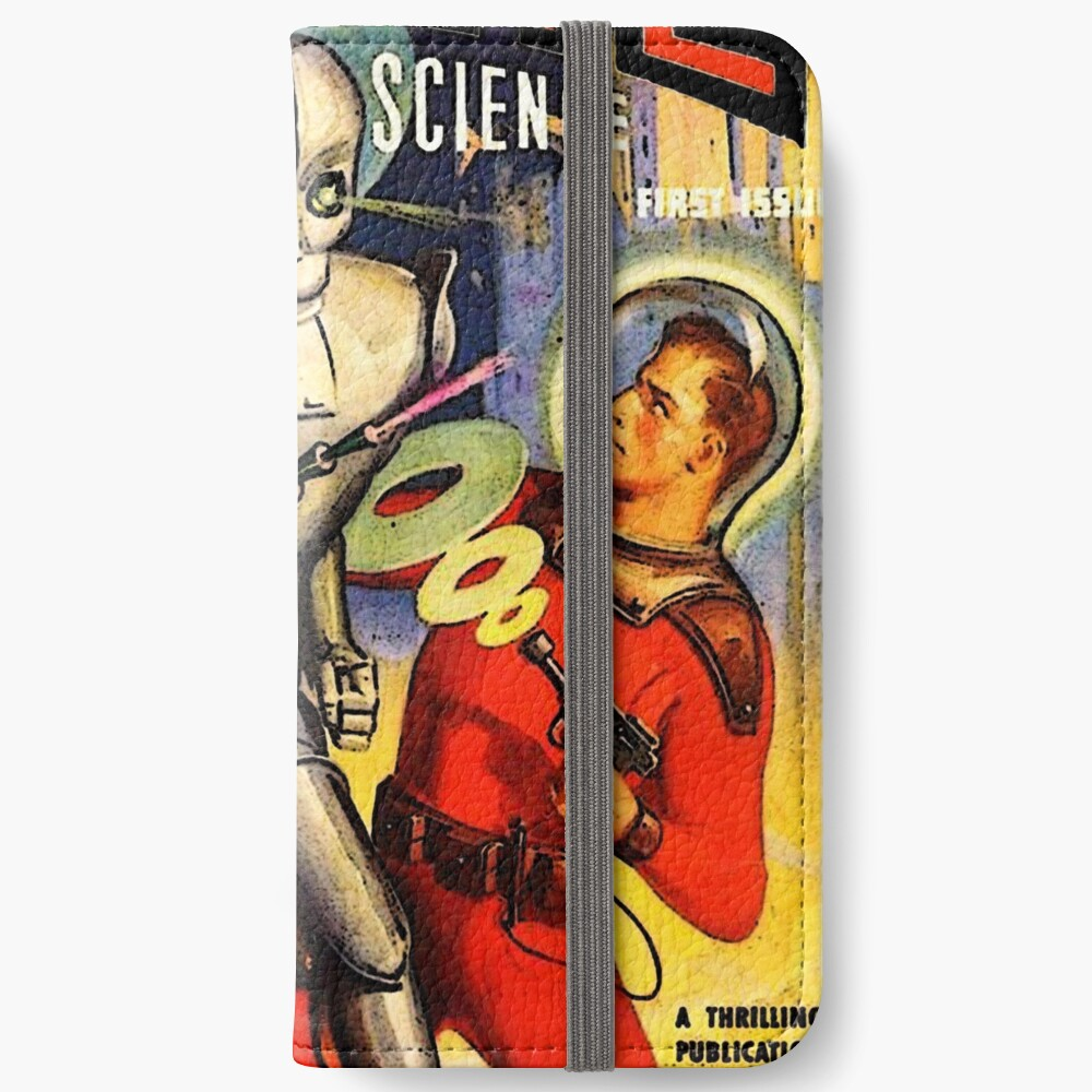 Retro Vintage CAPTAIN ZUKUNFT NR. 1 PULP MAGAZIN KUNST iPhone Flip-Case
