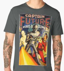 Retro Vintage CAPTAIN FUTURE NO. 1 PULP MAGAZINE ART Men's Premium T-Shirt