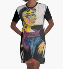 Portrait of Dora Maar-Pablo Picasso Graphic T-Shirt Dress