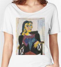 Portrait of Dora Maar-Pablo Picasso Women's Relaxed Fit T-Shirt