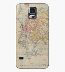 Vintage Map of The World (1823) Case/Skin for Samsung Galaxy