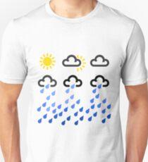 Weather symbols from sun to rain Unisex T-Shirt