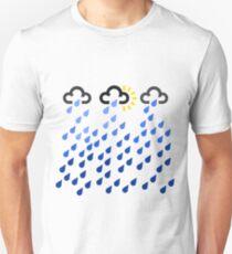 Weather symbols rainy forecast art pattern Unisex T-Shirt