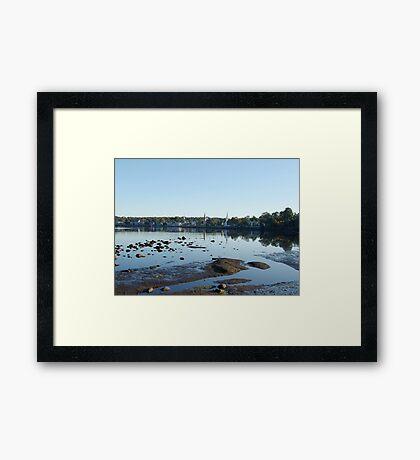 Mahone Bay Churches Framed Print