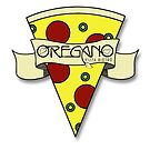 Scrolled Pizza Slice Icon - Oregano Pizza Bistro by Zack Nichols