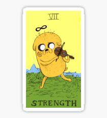 Jake The Dog as Strength Sticker