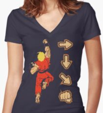 Know your Fighting Skills v2.0 Women's Fitted V-Neck T-Shirt