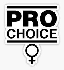 Pro-Choice Feminist Shirt Design Sticker