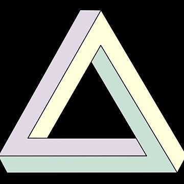 Penrose Triangle, Impossible Triangle 2 by JoAnnFineArt