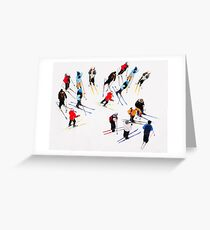 Young Skiers Greeting Card