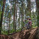 Biker on Trail by Ari Salmela