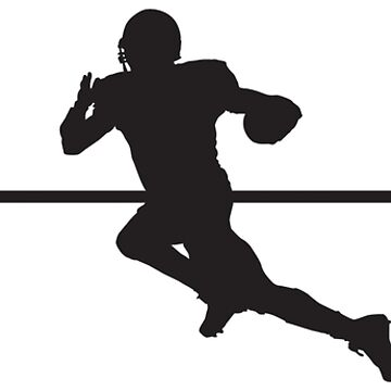 Heartbeat / Pulse - Football Player Silhouette by SandpiperDesign