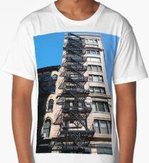New York, Manhattan, Brooklyn, New York City, architecture, street, building, tree, car, pedestrians, day, night, nightlight, house, condominium,  Long T-Shirt