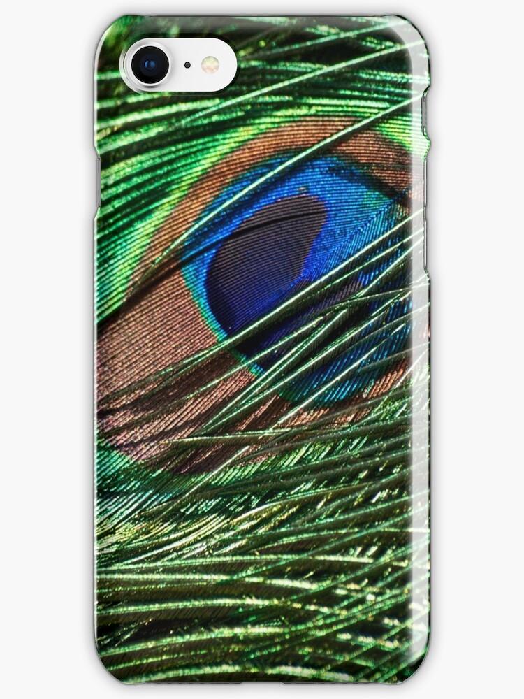 Iridescent plumage-iPhone by Celeste Mookherjee