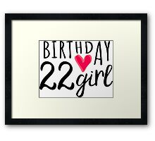 22nd Birthday 22nd Birthday Girl Pink Heart Posters By Xsylx