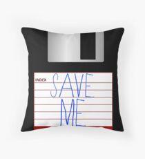 Message on the Floppy Throw Pillow