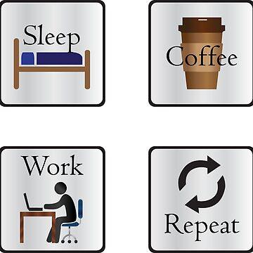 Sleep Coffee Work Repeat by Eliza434