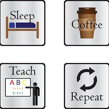 Sleep Coffee Teach Repeat by Eliza434