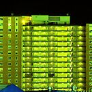 Apartment Buildings at Night by henuly1
