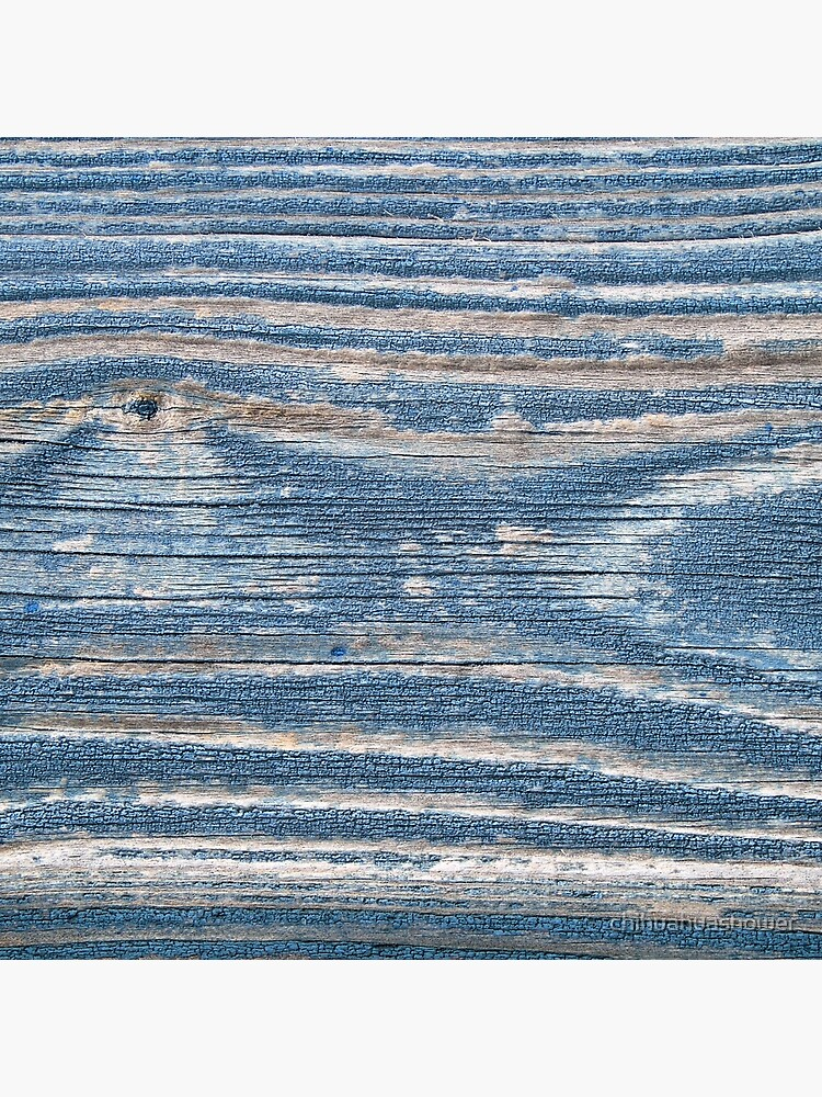 Rustic weathered wood in blue by chihuahuashower