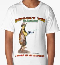 Support the 2nd Amendment Cowboy Turtle Long T-Shirt